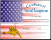 Special Recognition Certificate - Pack of 10 (SKU: CER-22)