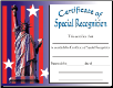 Special Recognition Certificate - Pack of 10 (SKU: CER-24)