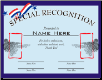 Special Recognition Certificate - Pack of 10 (SKU: CER-25)