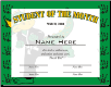 Student of the Month Certificate - Pack of 10 (SKU: CER-26)