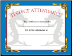 Perfect Attendance Certificate - Pack of 10 (SKU: CER-28)