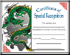 Special Recognition Certificate - Pack of 10 (SKU: CER-38)