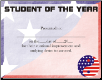 Student of the Year Certificate - Pack of 10 (SKU: CER-4)
