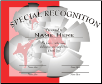 Special Recognition Certificate - Pack of 10 (SKU: CER-40)