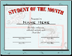 Student of the Month Certificate - Pack of 10 (SKU: CER-6)