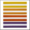 Colored Martial Arts Rank Belt with White Stripe