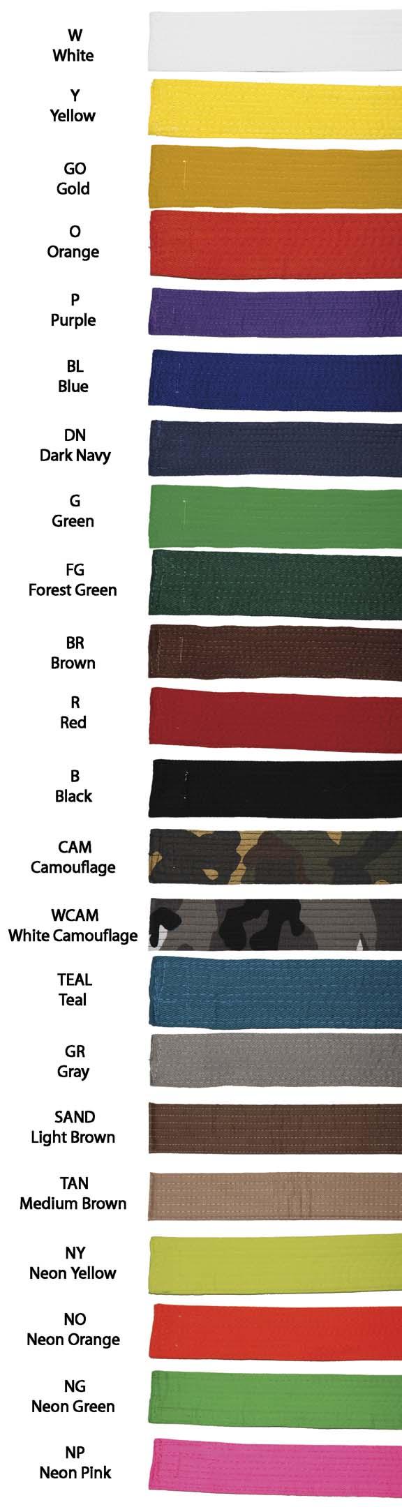Kung Fu Sash with White Stripe | UniformsForMartialArts.com