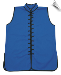 Sleeveless Kung Fu Jacket - Blue with Black Laces