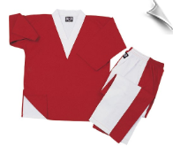8 oz V-Neck Team Uniform - Red and White