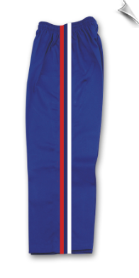 8 oz Middleweight Karate Pants - Blue with Red, White & Blue Stripes