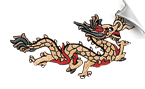 Metallic Gold Dragon Patch - 5 Pack