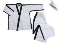 8 oz Karate Team Uniform - White with Black