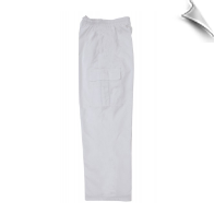 Martial Arts Cargo Pants - White