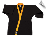 8.5 oz Super-Middleweight Karate Jacket - Black with Gold