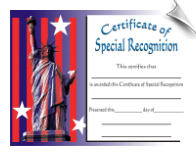 Special Recognition Certificate - Pack of 10