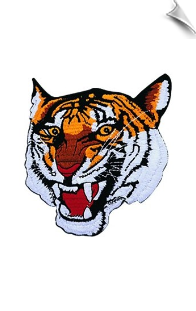 Tiger Face Patch - 5 Pack