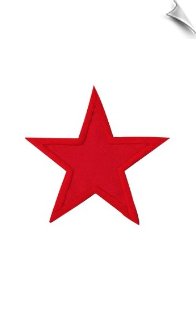 "4"" Star Patch - 5 Pack"