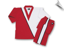 8 oz V-Neck Team Uniform - Red with White & Black
