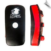 Artificial Leather Single Thai Pad - Black/Red