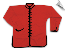 Middleweight Long-Sleeve Kung Fu Jacket - Red with Black