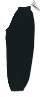 Black Middleweight Kung Fu Pants With Elastic Cuffs