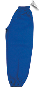 Blue Middleweight Kung Fu Pants With Elastic Cuffs