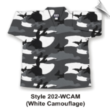 8.5 oz V-Neck Martial Arts Top - White Camouflage