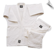 Single Weave Judo/Jiu-Jitsu Uniform - White