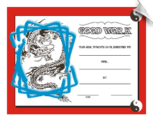 Good Work Certificate - Pack of 10