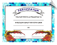 Participation Certificate - Pack of 10