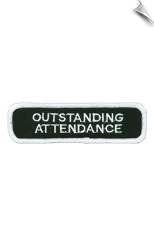 Outstanding Attendance Patch - 5 Pack