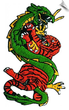 Dragon Tiger Patch - 5 Pack