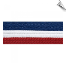 Half Blue Half Red Rank Belt with White Stripe