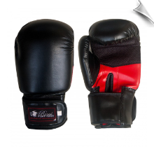Artificial Leather Boxing Gloves - 12 oz - Black/Red