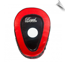 Leather Focus Mitts - Black/Red - Pair