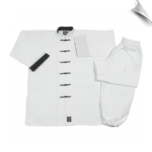 8 oz Middleweight Kung Fu Uniform - White with Black