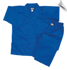 8.5 oz V-Neck Martial Arts Uniform - Blue