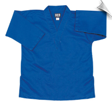 8.5 oz V-Neck Martial Arts Top - Blue