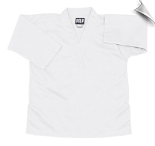 8.5 oz V-Neck Martial Arts Top - White