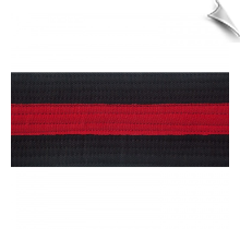 2 Inch Deluxe Black Belt with Red Stripe