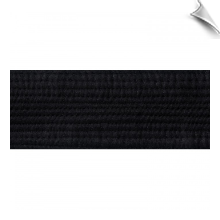 2 Inch Deluxe Black Satin Martial Arts Rank Belt