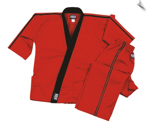 Elastic Waist with Drawstring 8 oz Red Middleweight Karate Pants