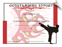 Outstanding Effort Certificate - Pack of 10