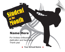 Student of the Month Certificate - Pack of 10