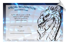 Special Recognition Rank Certificate - Pack of 10
