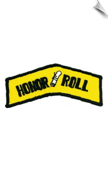 Honor Roll Patch - 5 Pack
