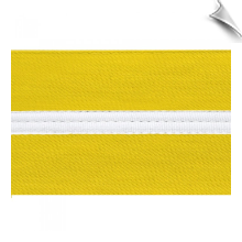 Poly/Cotton Kung Fu Sashes with White Stripe