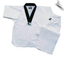 7.5 oz Middleweight TKD Uniform - White With Black