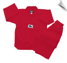 7.5 oz Middleweight Tae Kwon Do Uniform - Red