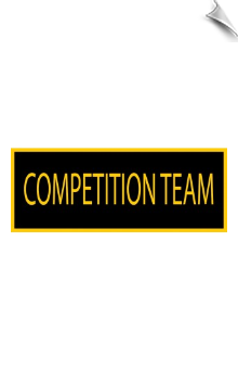 Competition Team Patch - 5 Pack